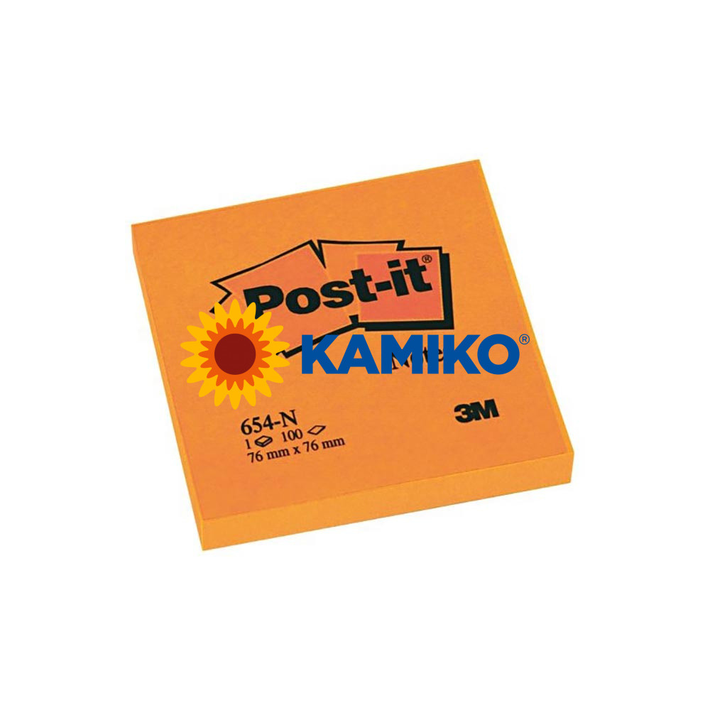Samolepiaci bloček Post-it neónový 76 x 76 mm oranžový