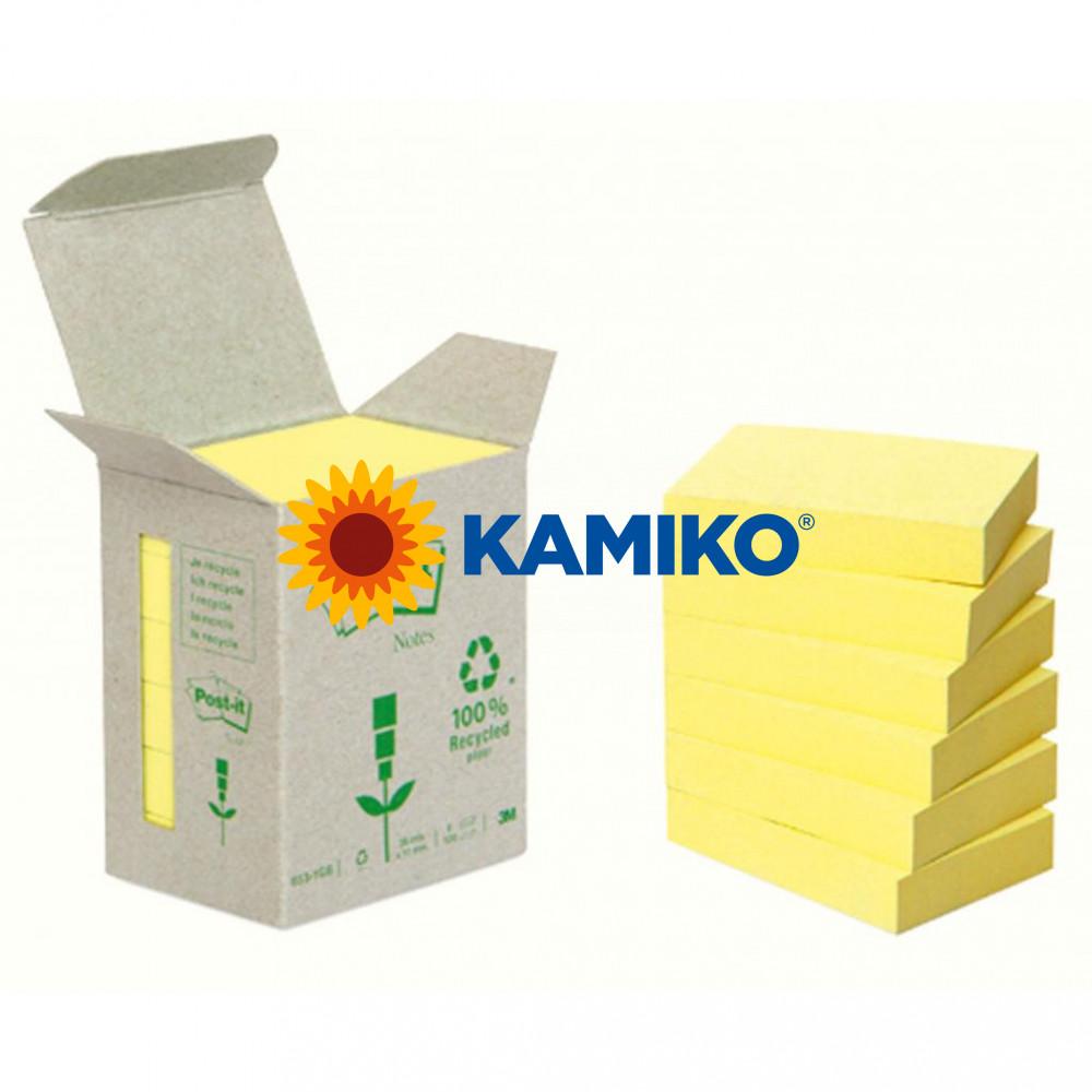 Samolepiaci bloček Post-it recyklovaný žltý 76 x 76 mm