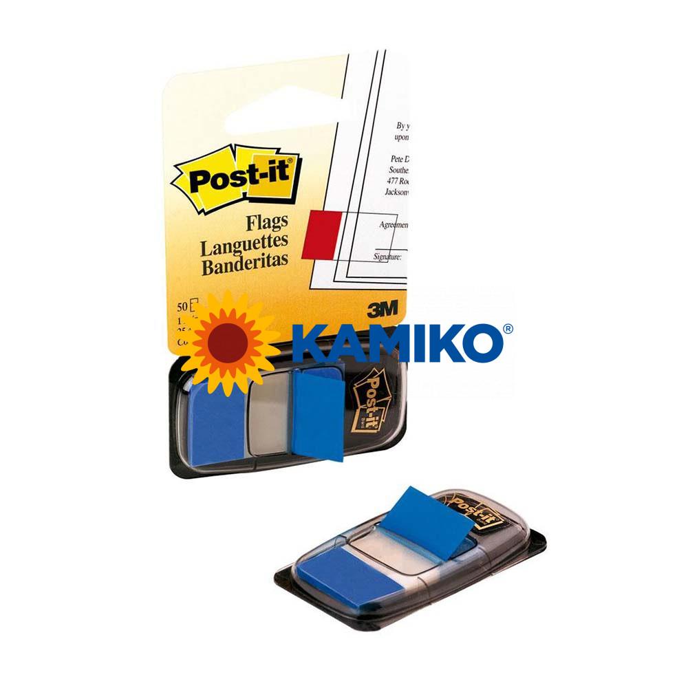 Záložky Post-it Index široké modré 25 x 43 mm