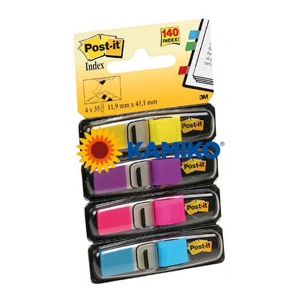 Záložky Post-it index úzke neónové farby 12,5 x 43 mm