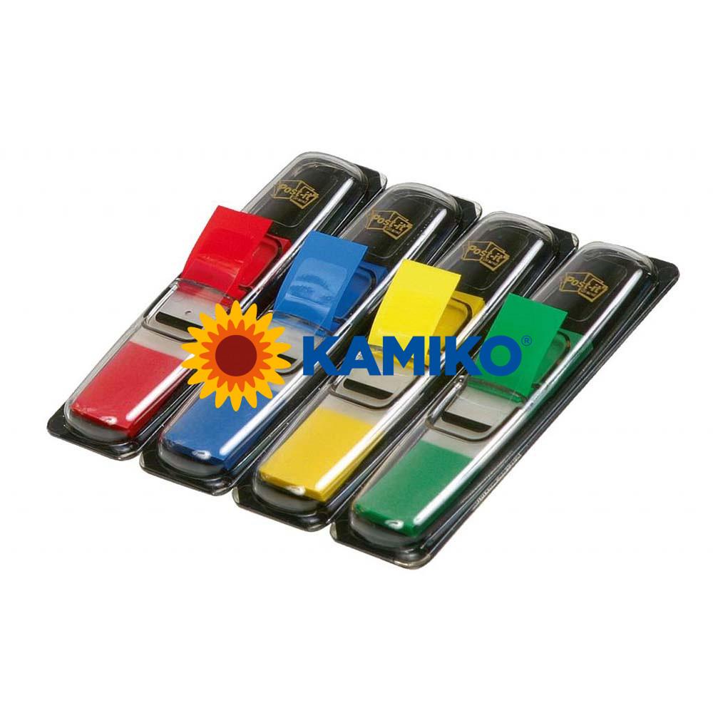 Záložky Post-it index úzke klasické farby 12,5 x 43 mm, veľké balenie