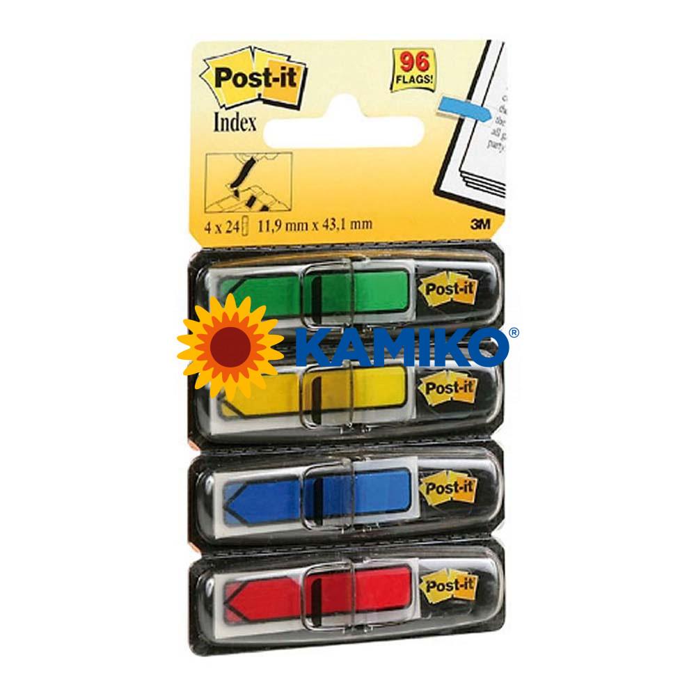 Záložky Post-it index šípky klasické farby 12,5 x 43 mm