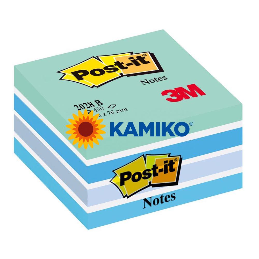 Samolepiaci bloček kocka Post-it 76 x 76 mm ľadová
