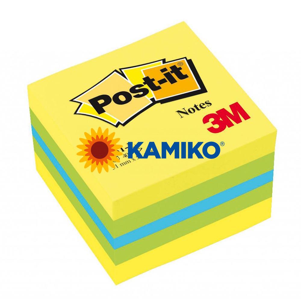 Samolepiaci bloček kocka Post-it 51 x 51 mm mini mix farieb