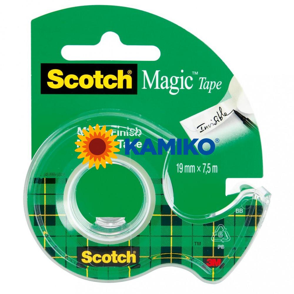 Lepiaca páska Scotch Magic s dispenzorom neviditeľná 19 mm x 7,5m