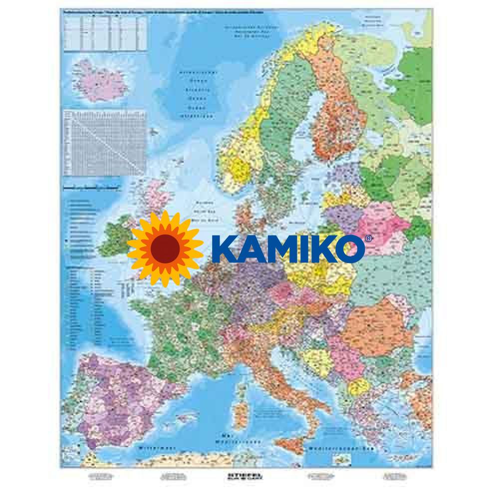 Mapa Európa PSČ