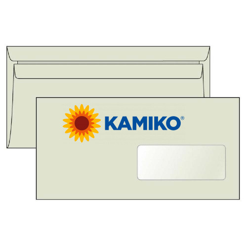 Poštové obálky DL samolepiace s okienkom recyklované LETTURA, 1000 ks