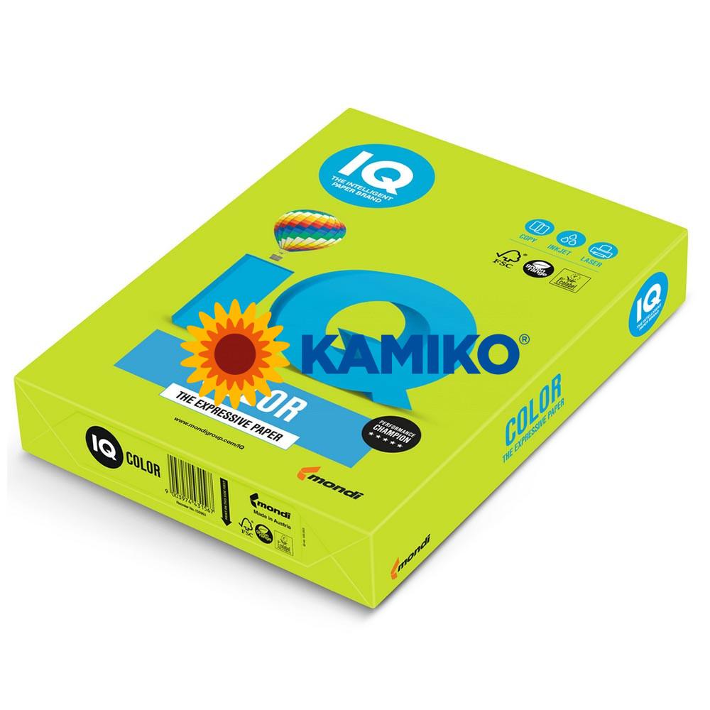 Farebný papier IQ color limetkovo zelený LG46, A4 80g