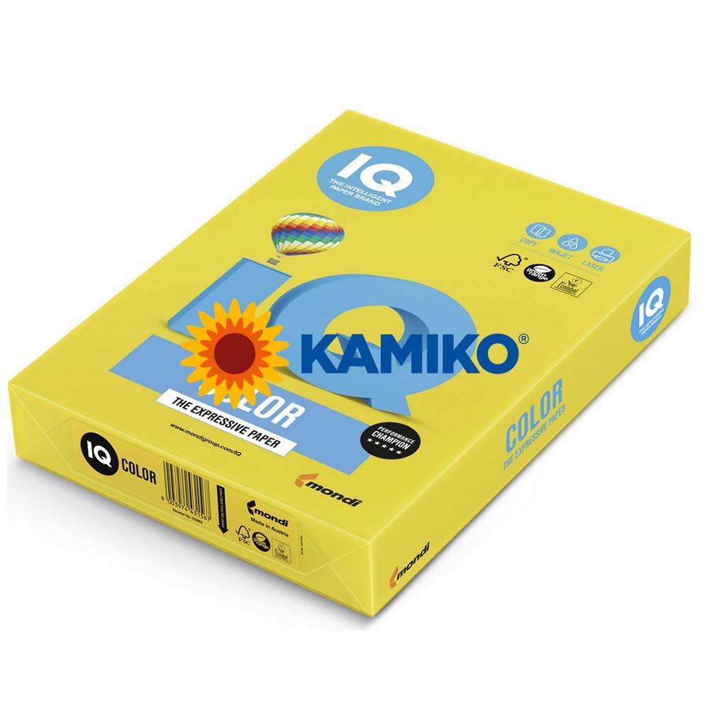Farebný papier IQ color intenzívny žltý IG50, A4 80g