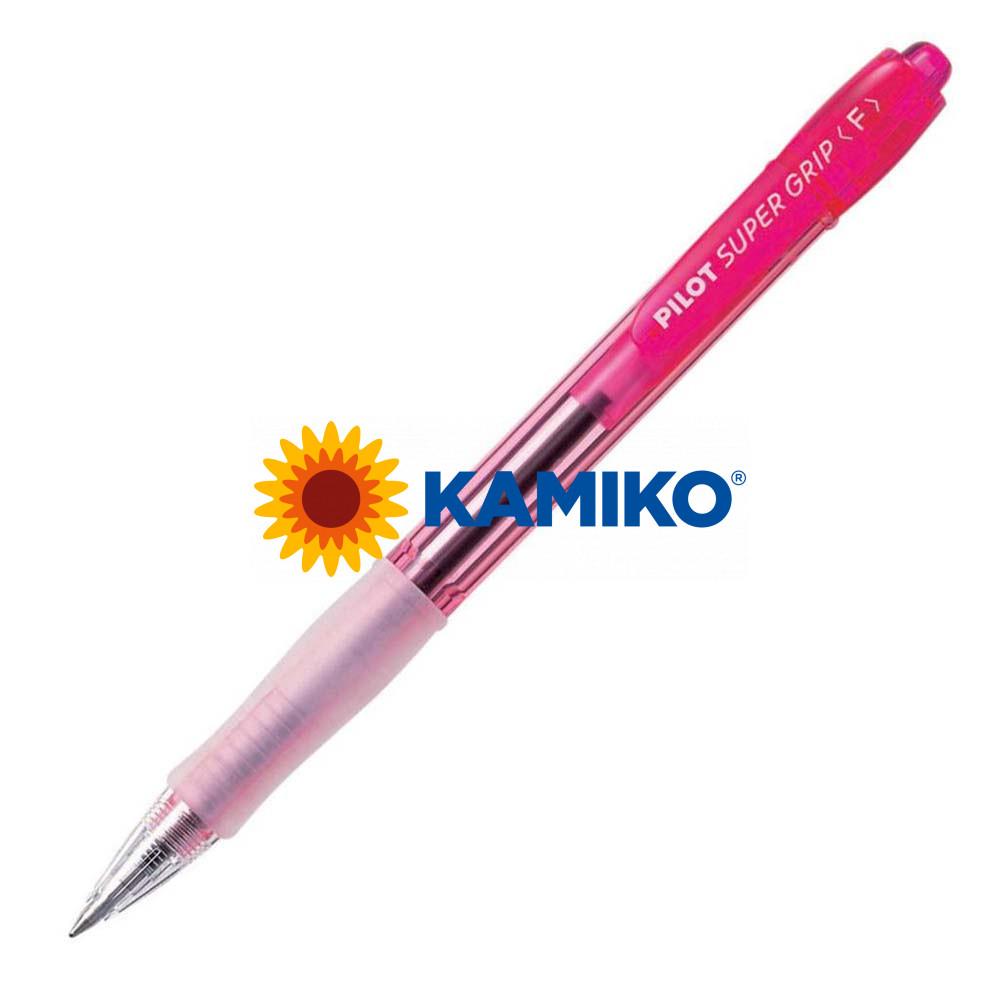 Guľôčkové pero PILOT Super Grip Neon červené