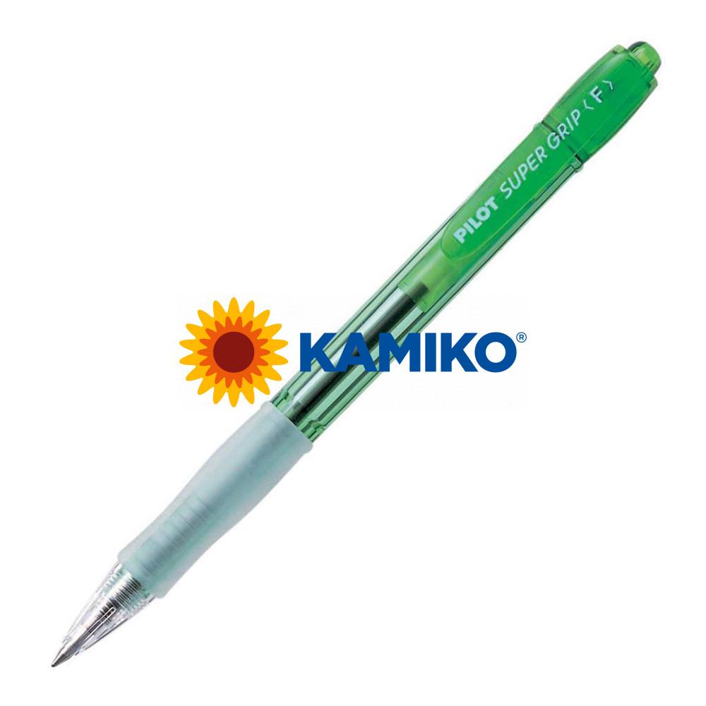 Guľôčkové pero PILOT Super Grip Neon zelené