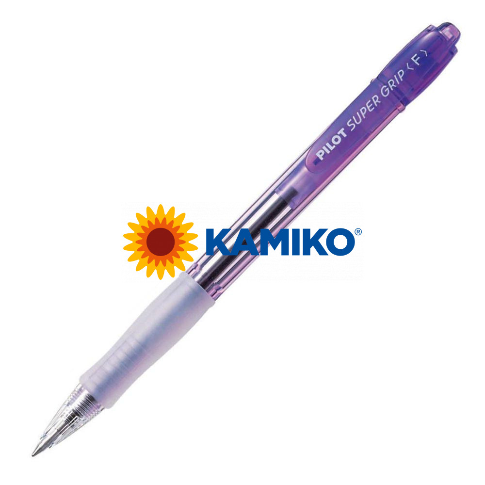 Guľôčkové pero PILOT Super Grip Neon fialové