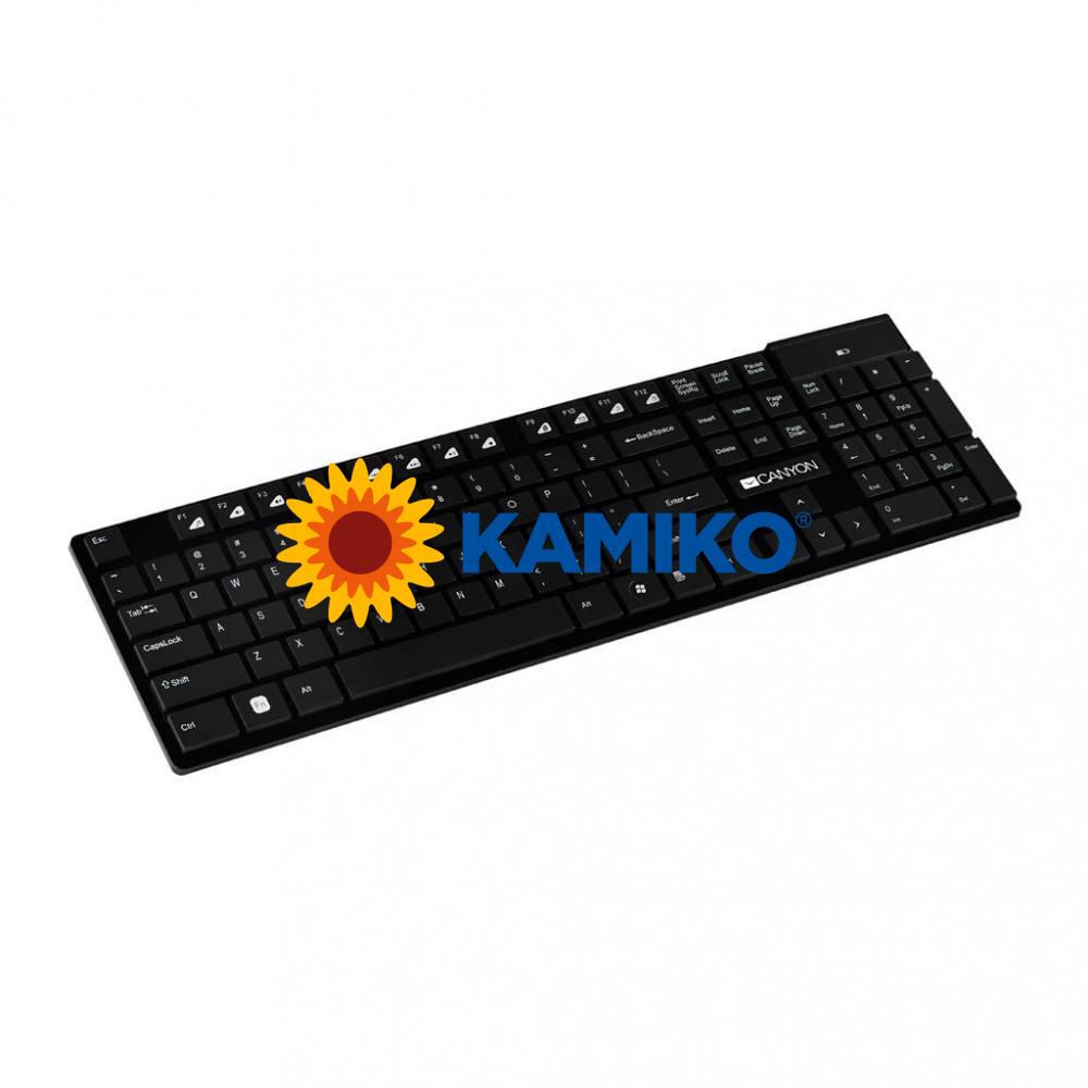 Bezdrôtová klávesnica Canyon CNS-HKBW2-SK, čierna