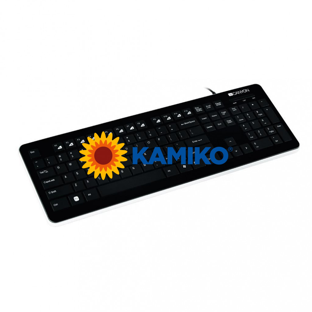 Klávesnica Canyon CNS-HKB3-SK USB multimediálna, čierna