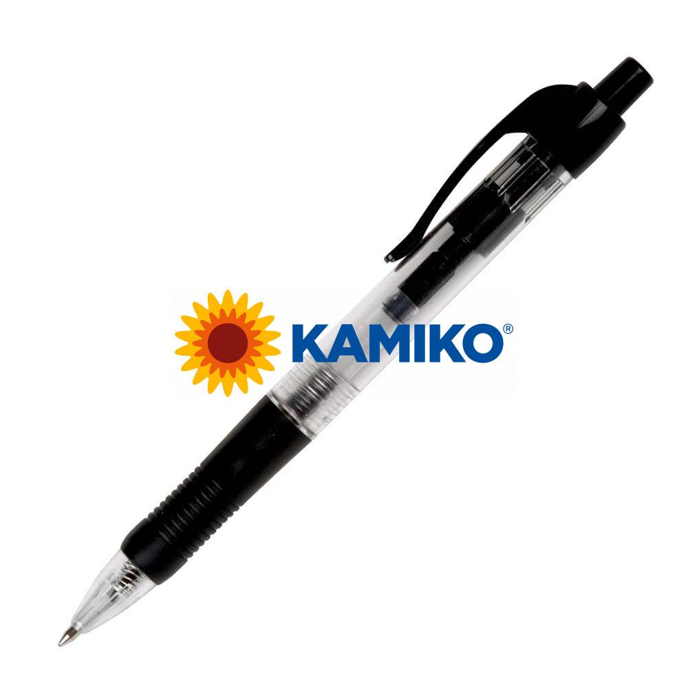Guľôčkové pero Q-CONNECT klikacie čierne