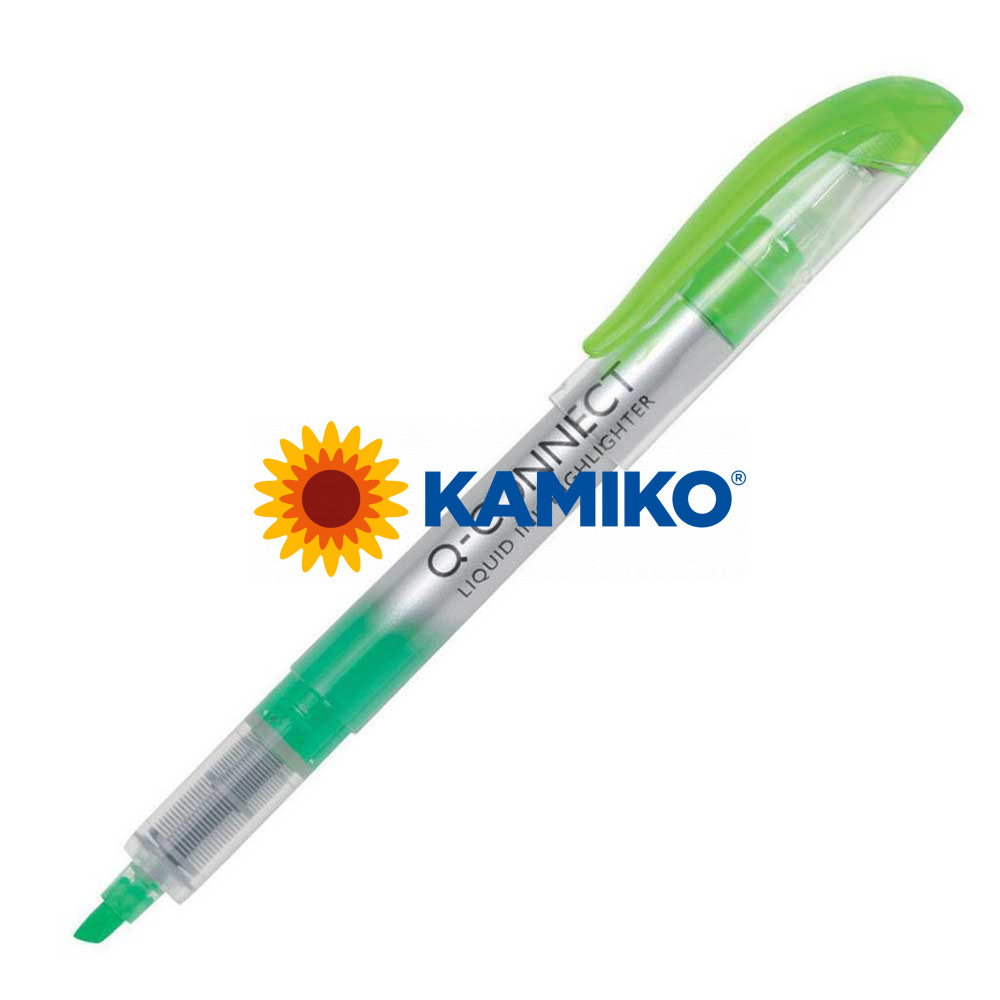 Zvýrazňovač Q-CONNECT Liquid Ink zelený