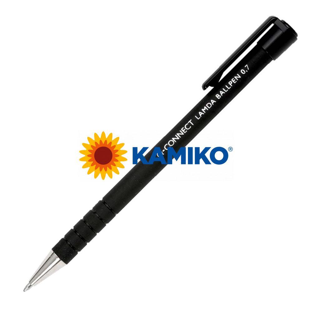 Guľôčkové pero Q-CONNECT Lamda čierne