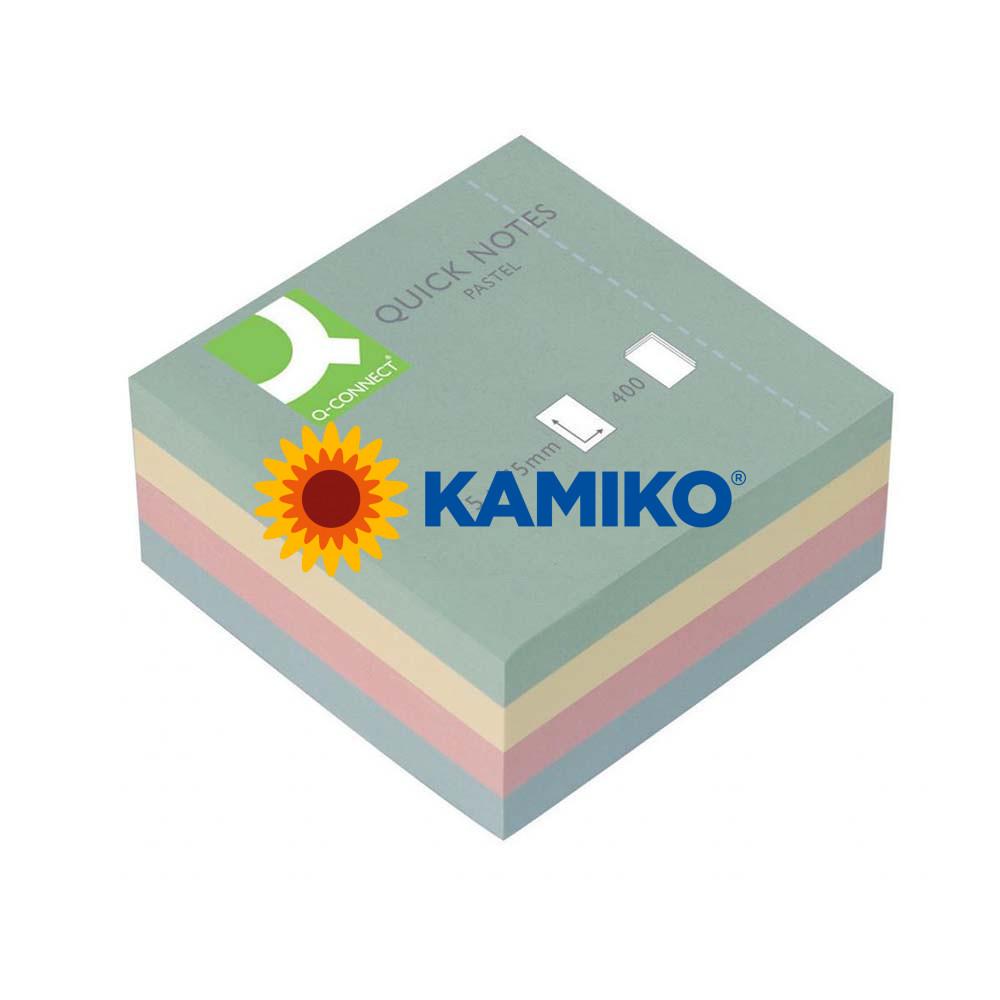 Bloček kocka Q-CONNECT 75 x 75 mm pastelová
