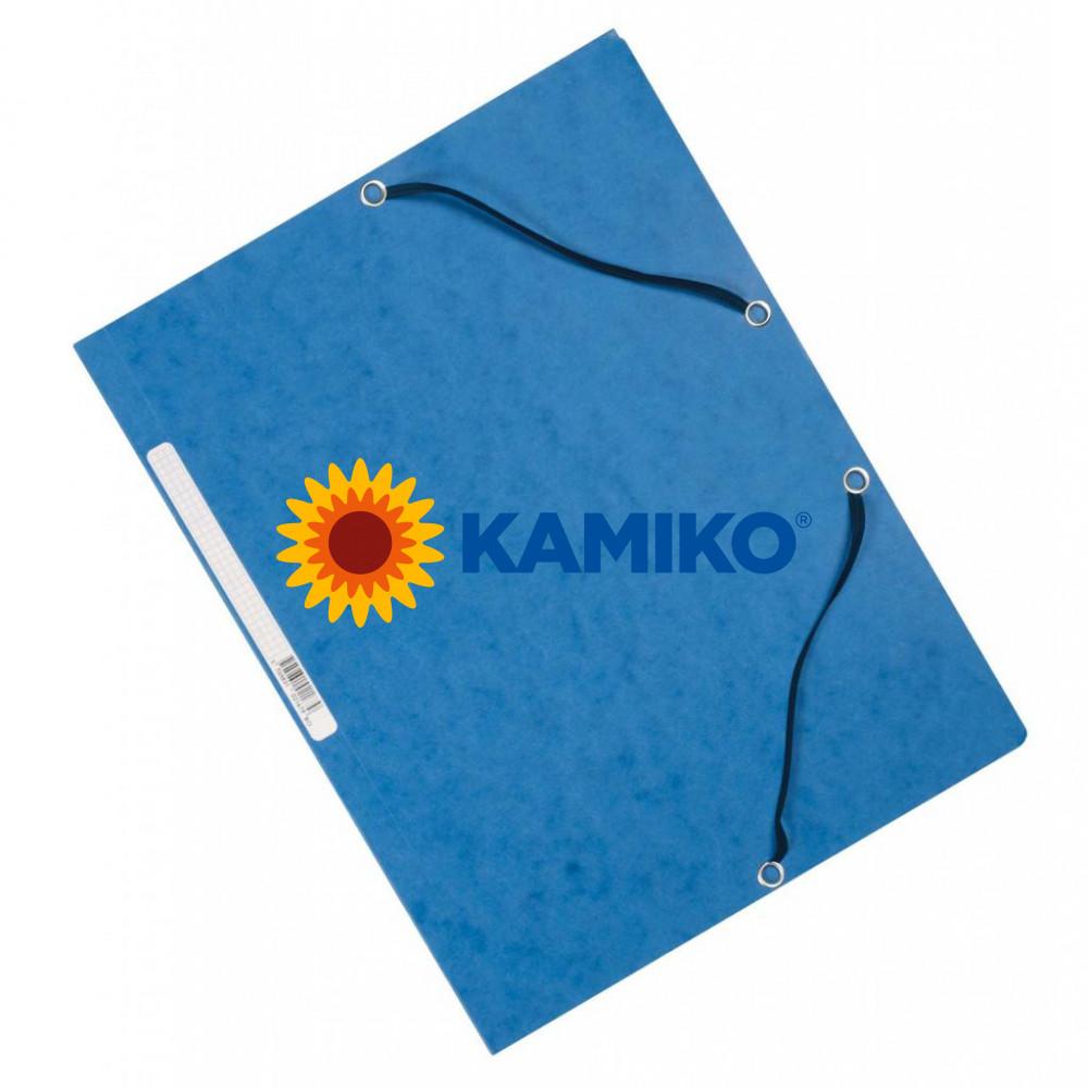 Kartónový obal hladký s gumičkou Q-Connect modrý