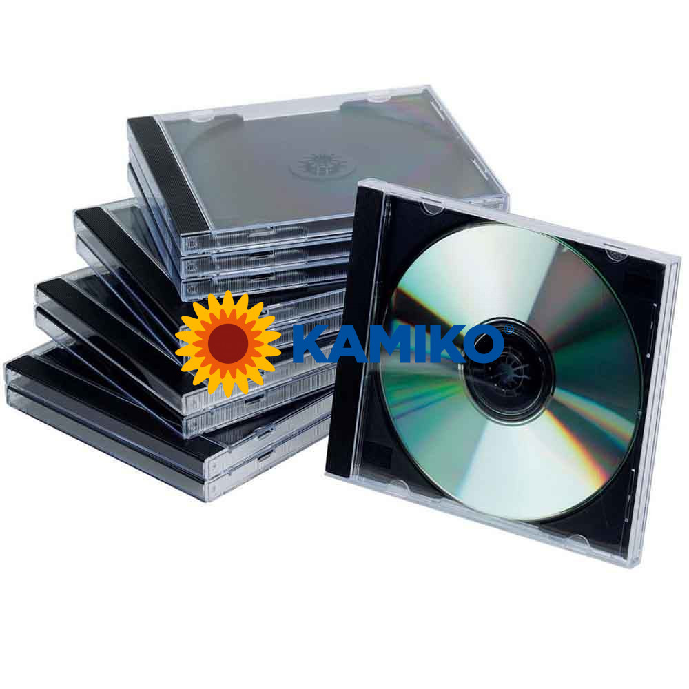 Obal na CD/DVD Jewel čierny tray, 10 ks