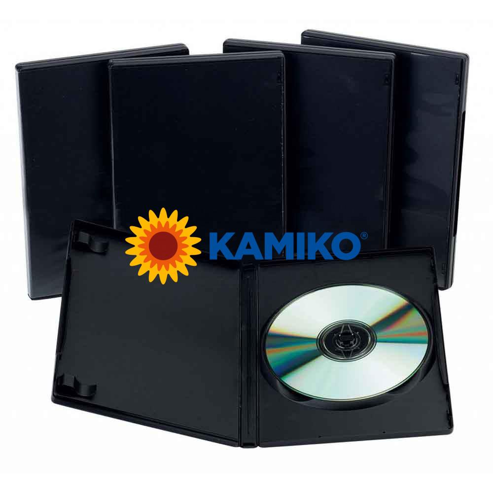 DVD box Slim čierny