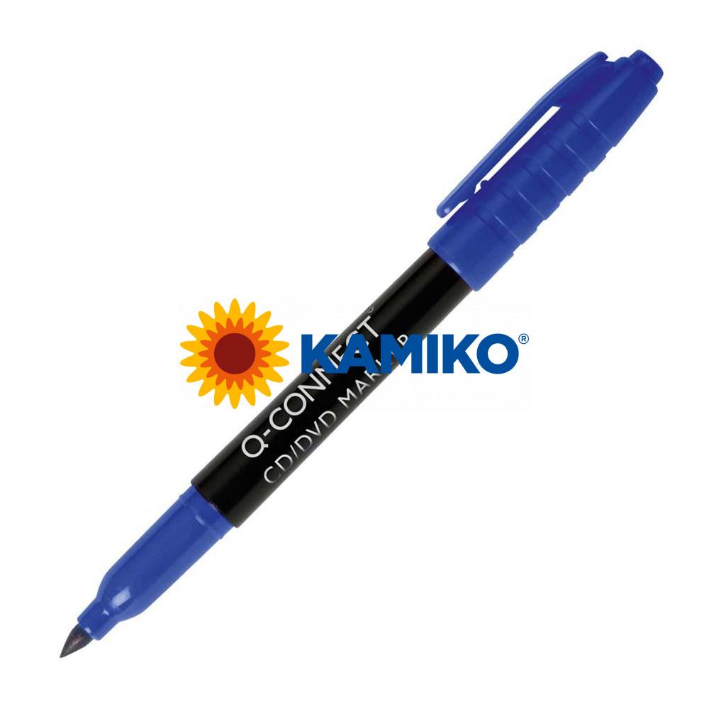 Permanentný popisovač na CD/DVD  Q-CONNECT modrý