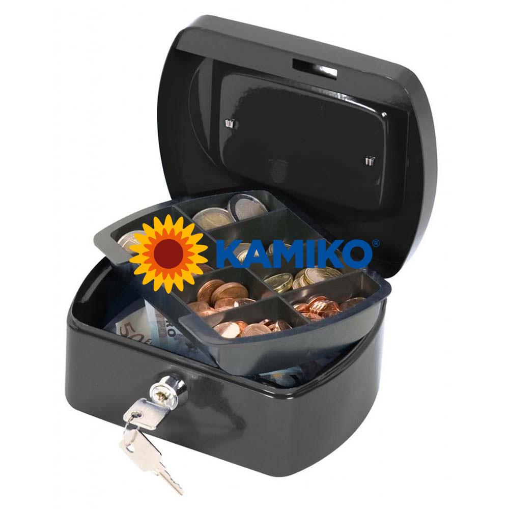 Pokladnička Q-CONNECT 155 x 75 x 120 mm čierna