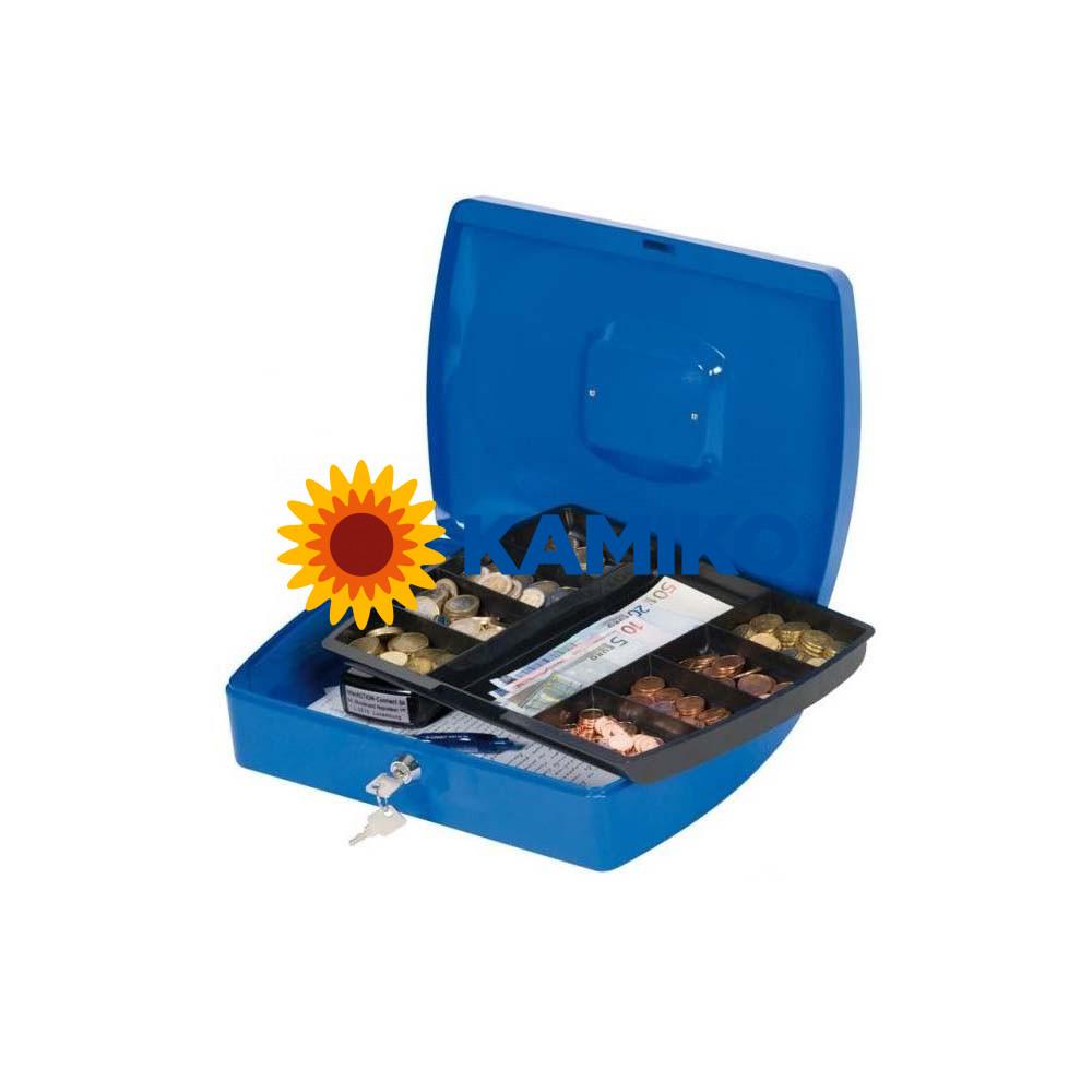 Pokladnička Q-CONNECT 325 x 85 x 235 mm modrá