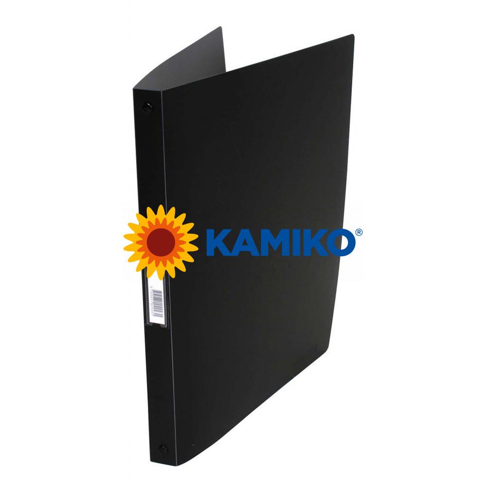 Zakladač 4-krúžkový Q-Connect celoplastový 1,6 cm čierny