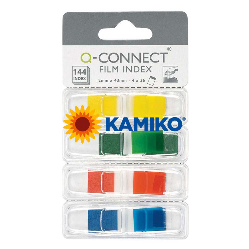 Záložky Q-CONNECT v zásobníku 12,5 x 43 mm
