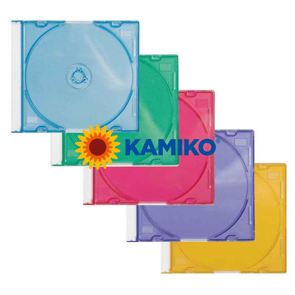 Farebné obaly na CD/DVD Q-Connect, 25 ks