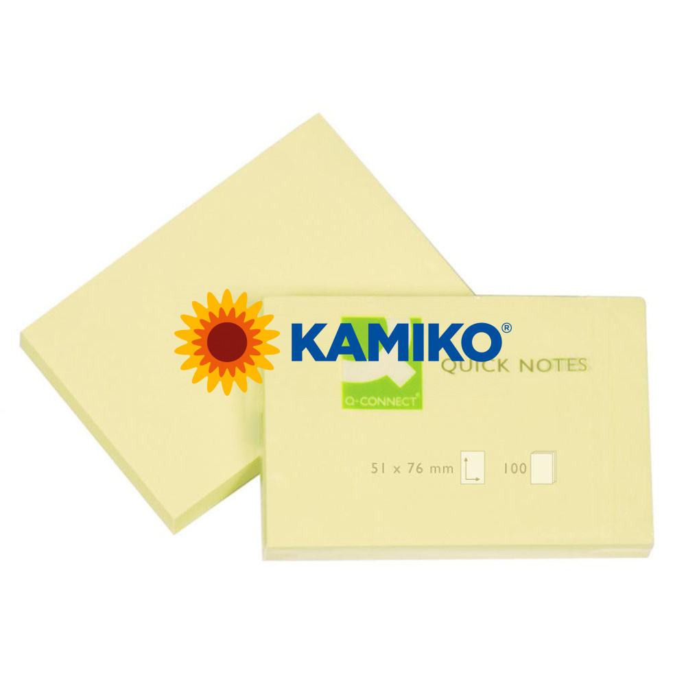 Samolepiaci bloček Q-CONNECT žltý 54 x 76 mm