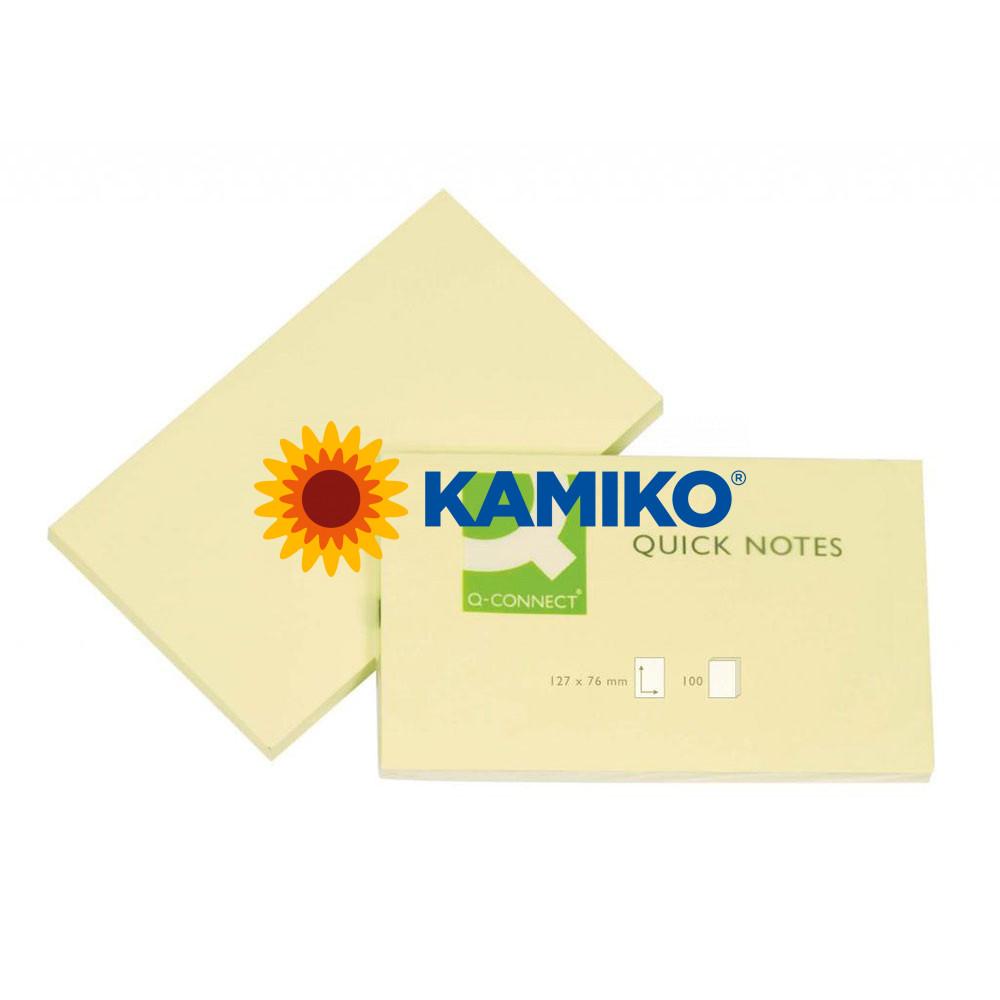 Samolepiaci bloček Q-CONNECT žltý 76 x 127 mm