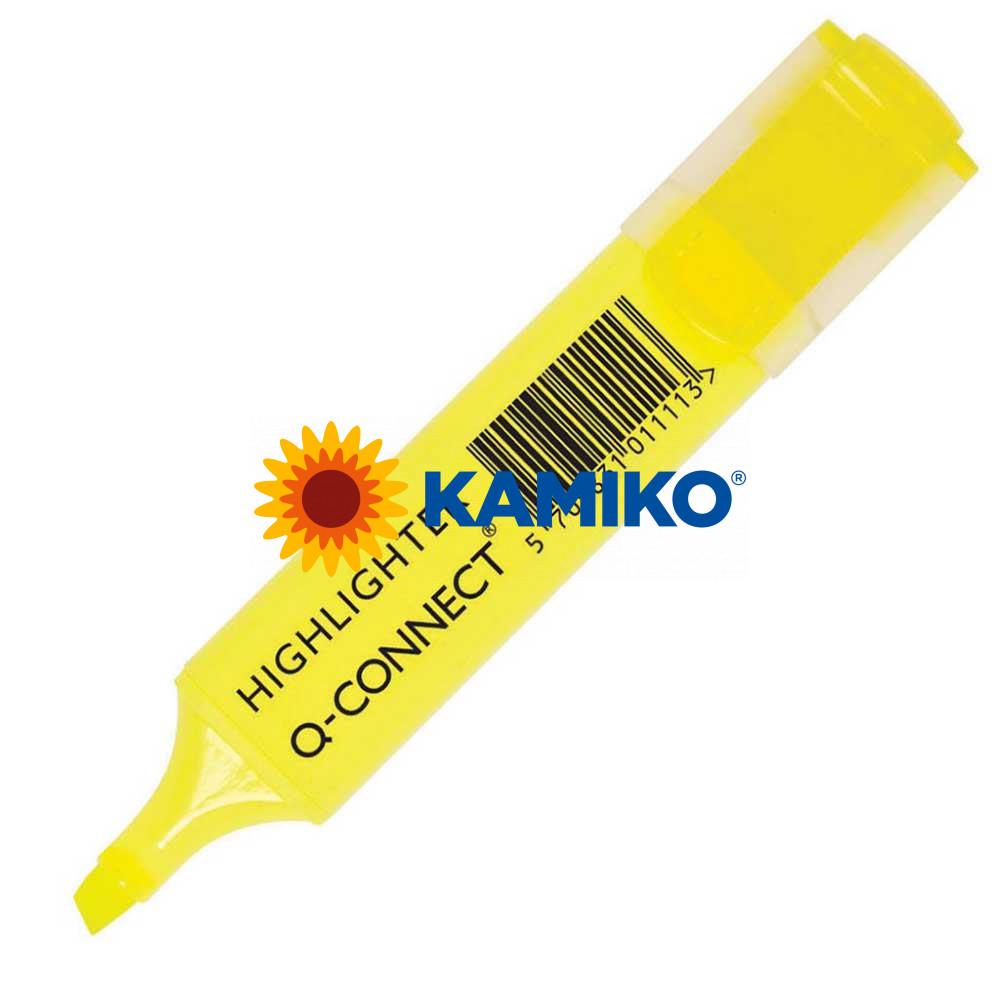 Zvýrazňovač Q-CONNECT žltý