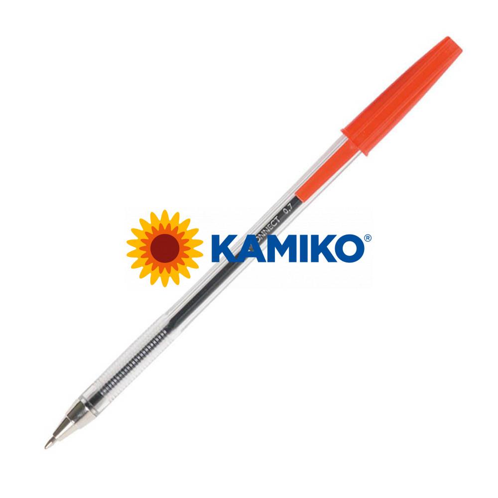 Guľôčkové pero jednorazové  Q-CONNECT M červené