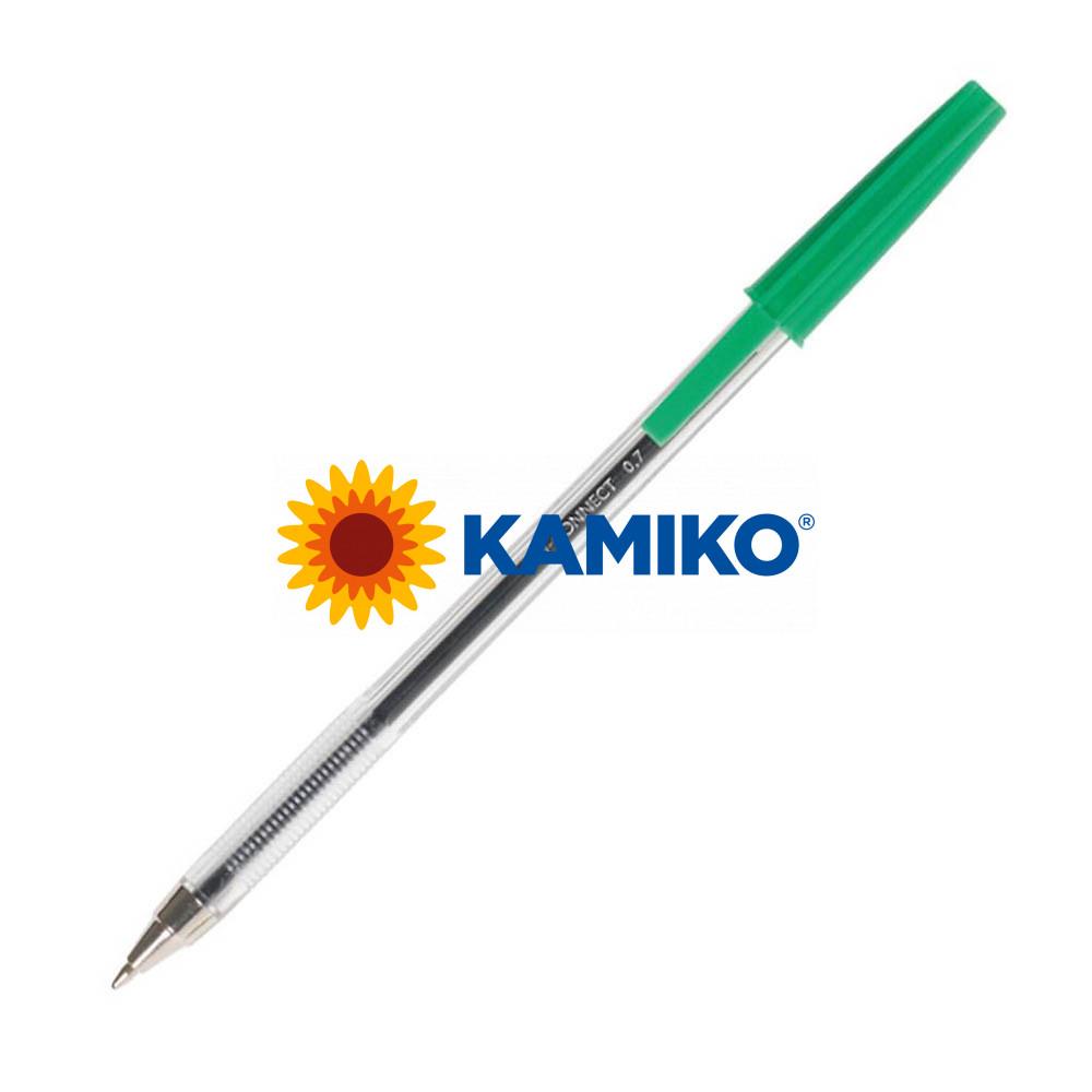 Guľôčkové pero jednorazové Q-CONNECT M zelené