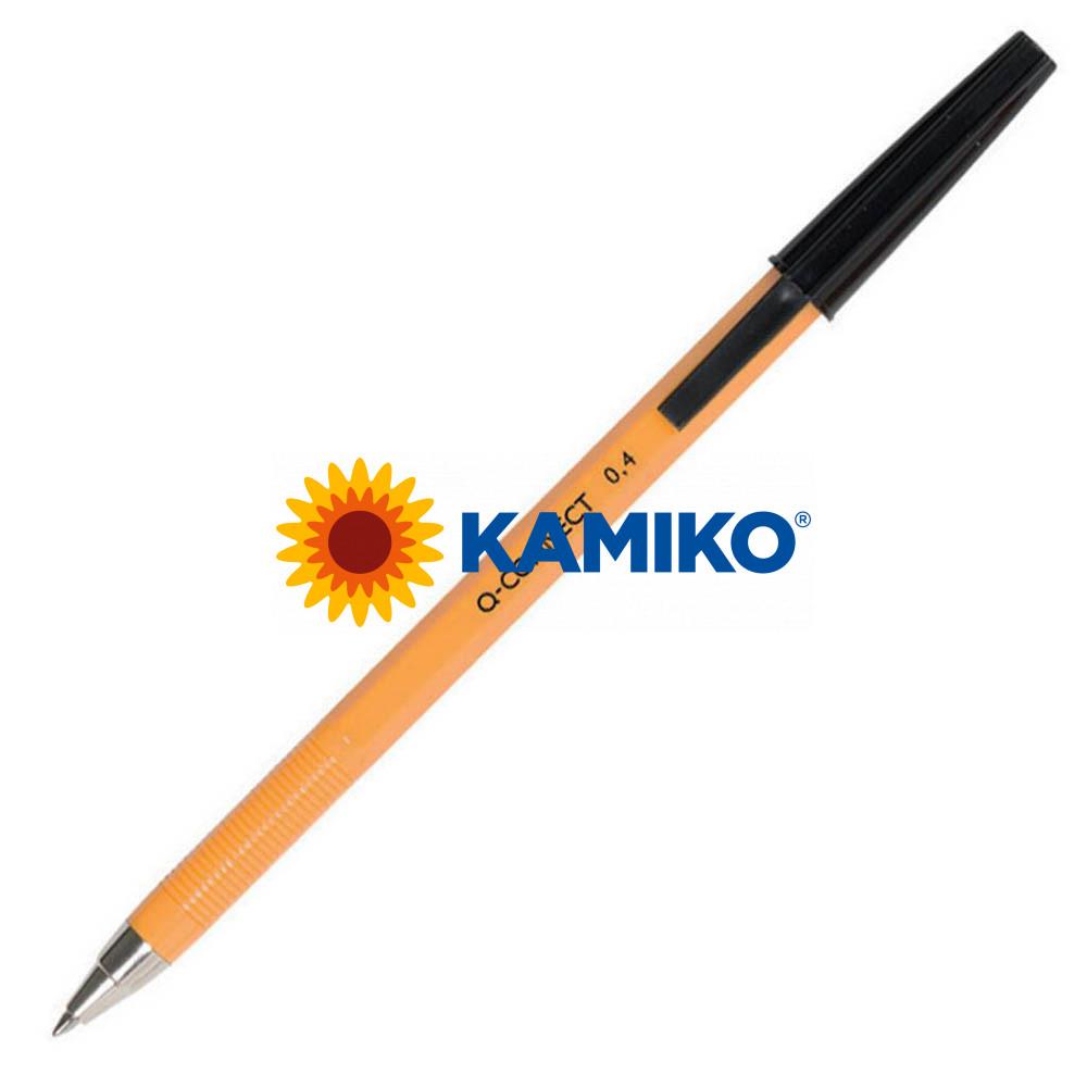 Guľôčkové pero jednorazové Q-CONNECT F čierne