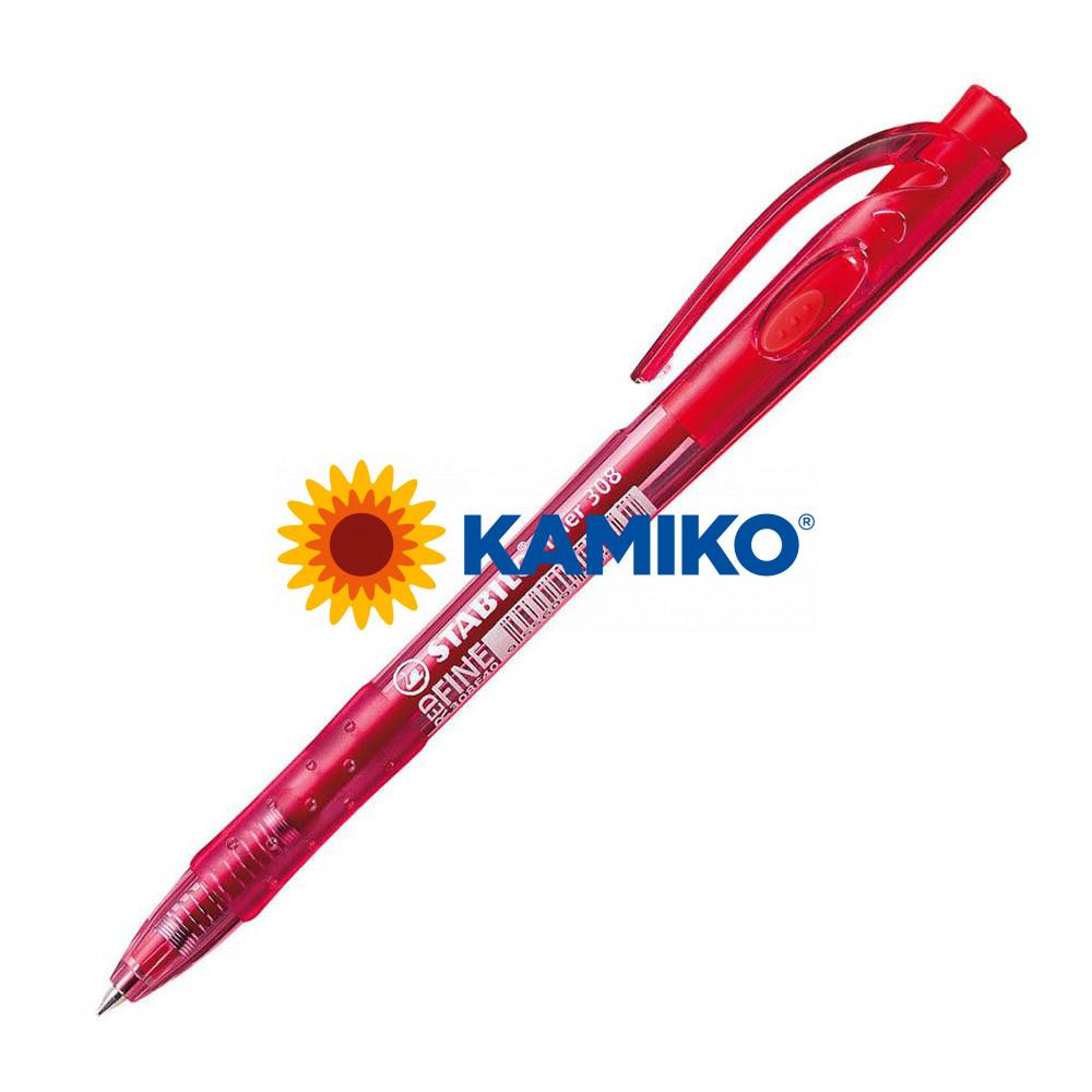 Guľôčkové pero STABILO Liner 308 červené