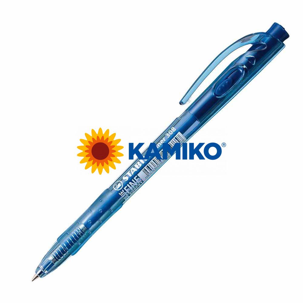 Guľôčkové pero STABILO Liner 308 modré