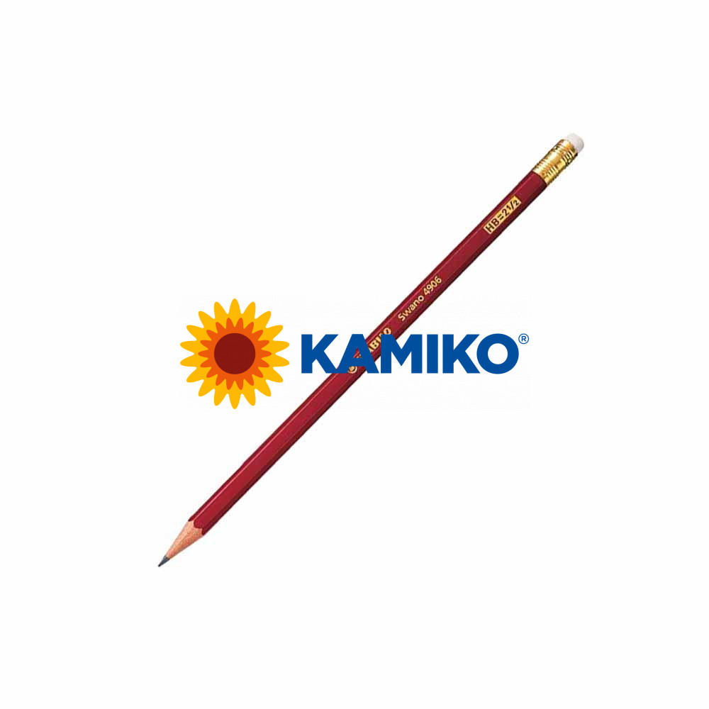 Ceruzka STABILO Swano 4906 HB s gumou, 12 ks