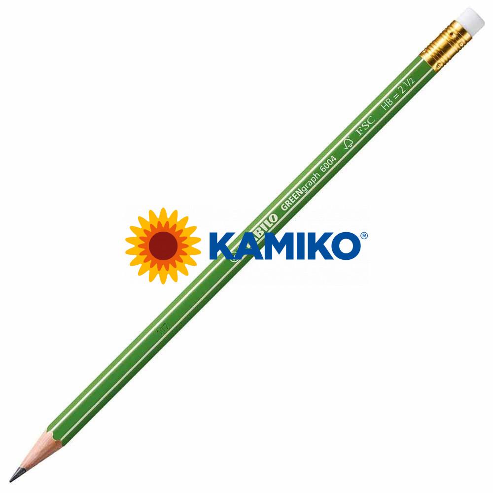 Ceruzka STABILO GREENgraph HB s gumou, 12 ks