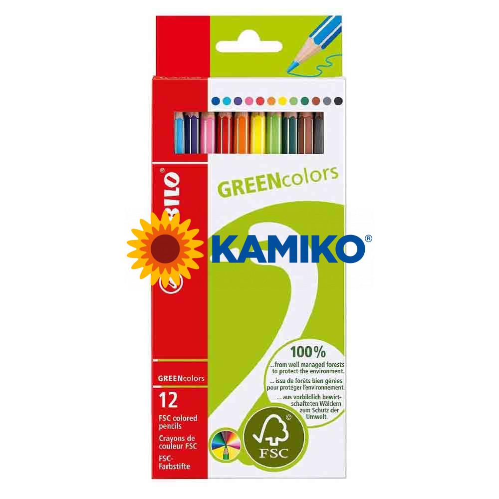 Farbičky STABILO GREENcolors, 12 ks