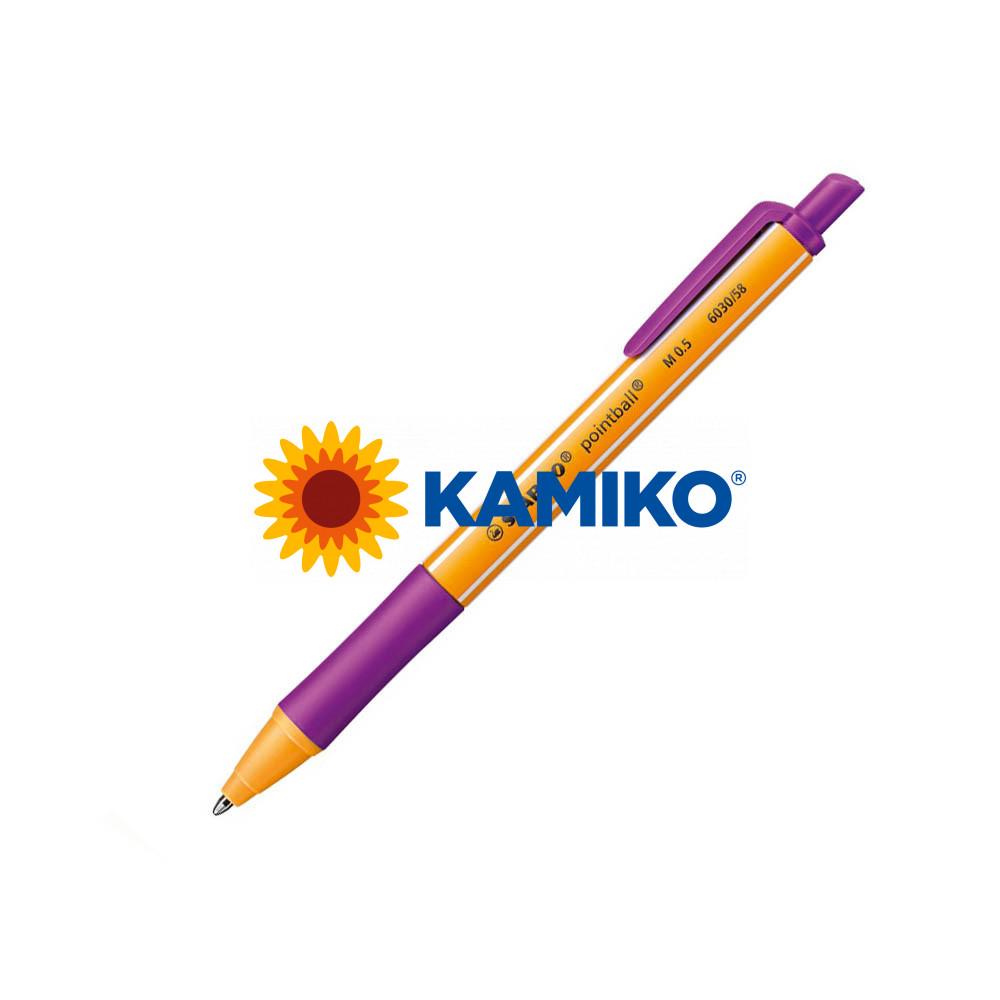 Guľôčkové pero STABILO pointball fialový
