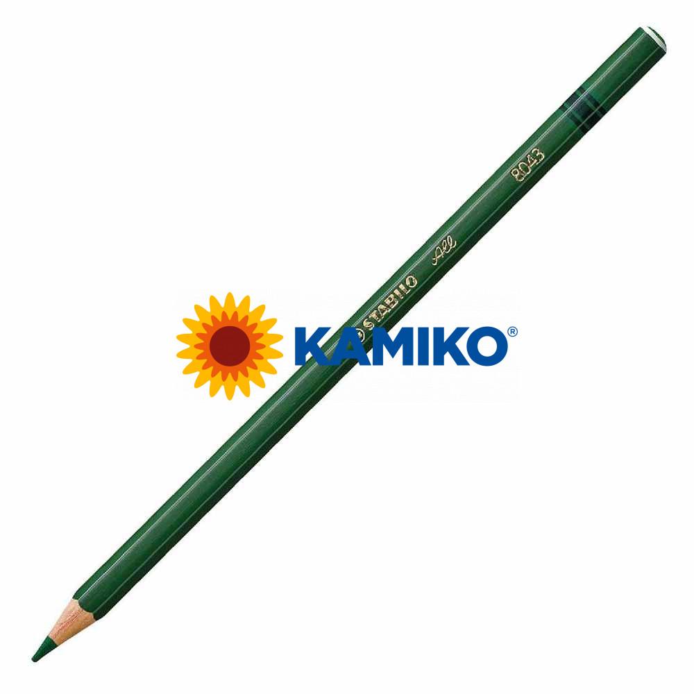 Farebná ceruzka STABILO All zelená, 12 ks
