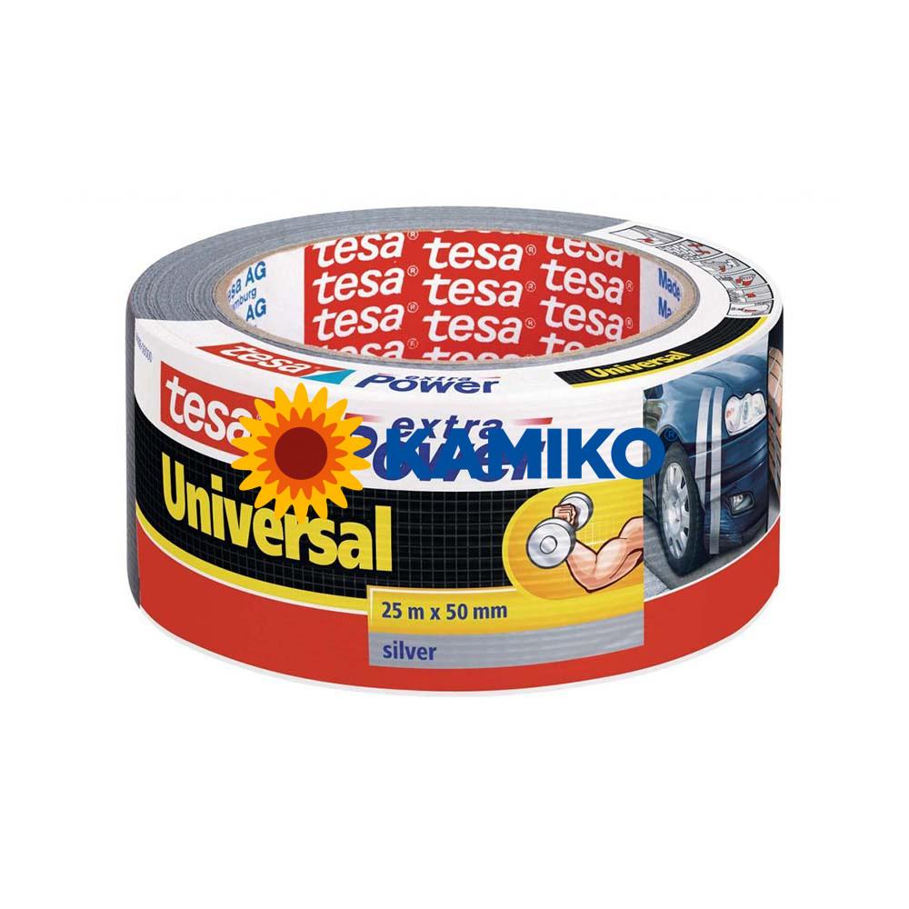 Textilná páska TESA silne lepiaca 50 mm x 25 m strieborná