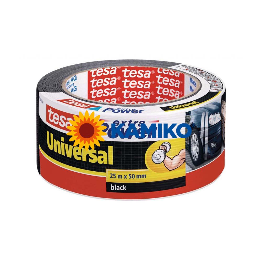 Textilná páska TESA silne lepiaca 50 mm x 25 m čierna