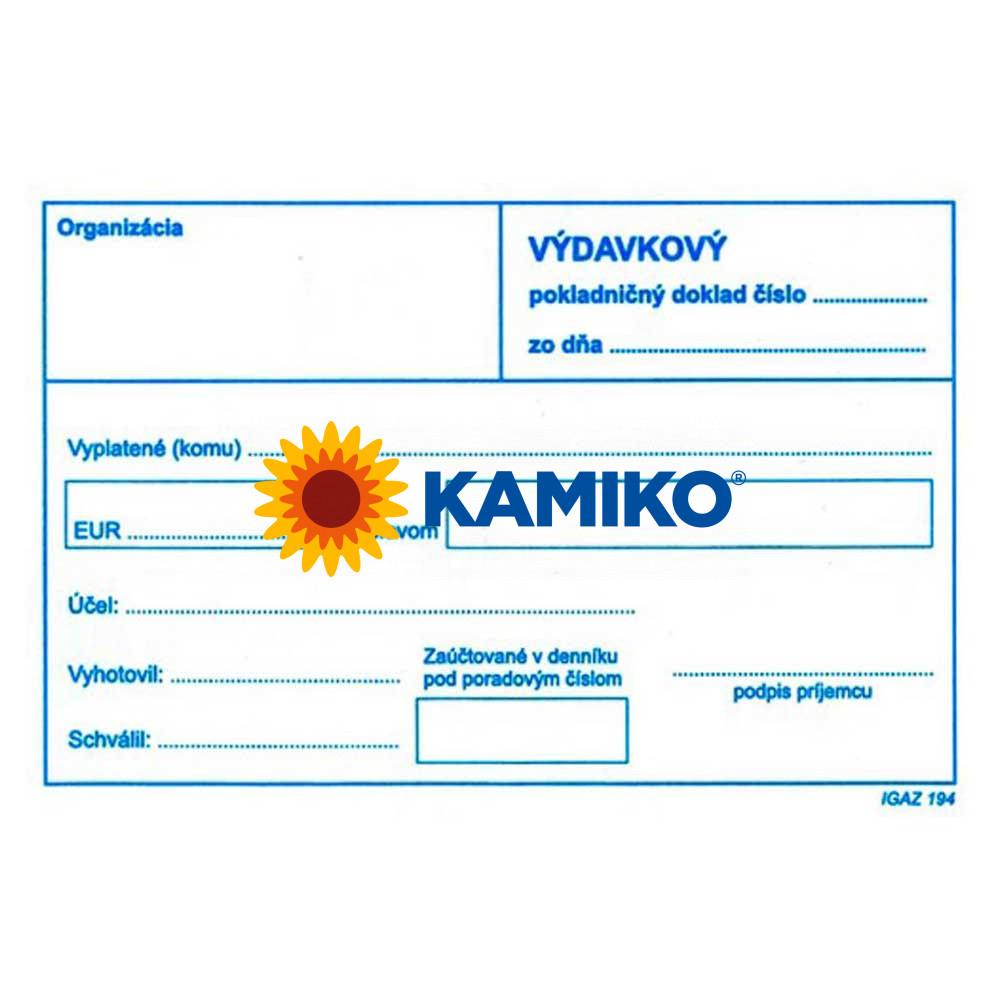 Výdavkový pokladničný doklad bez DPH A6, 100 listov