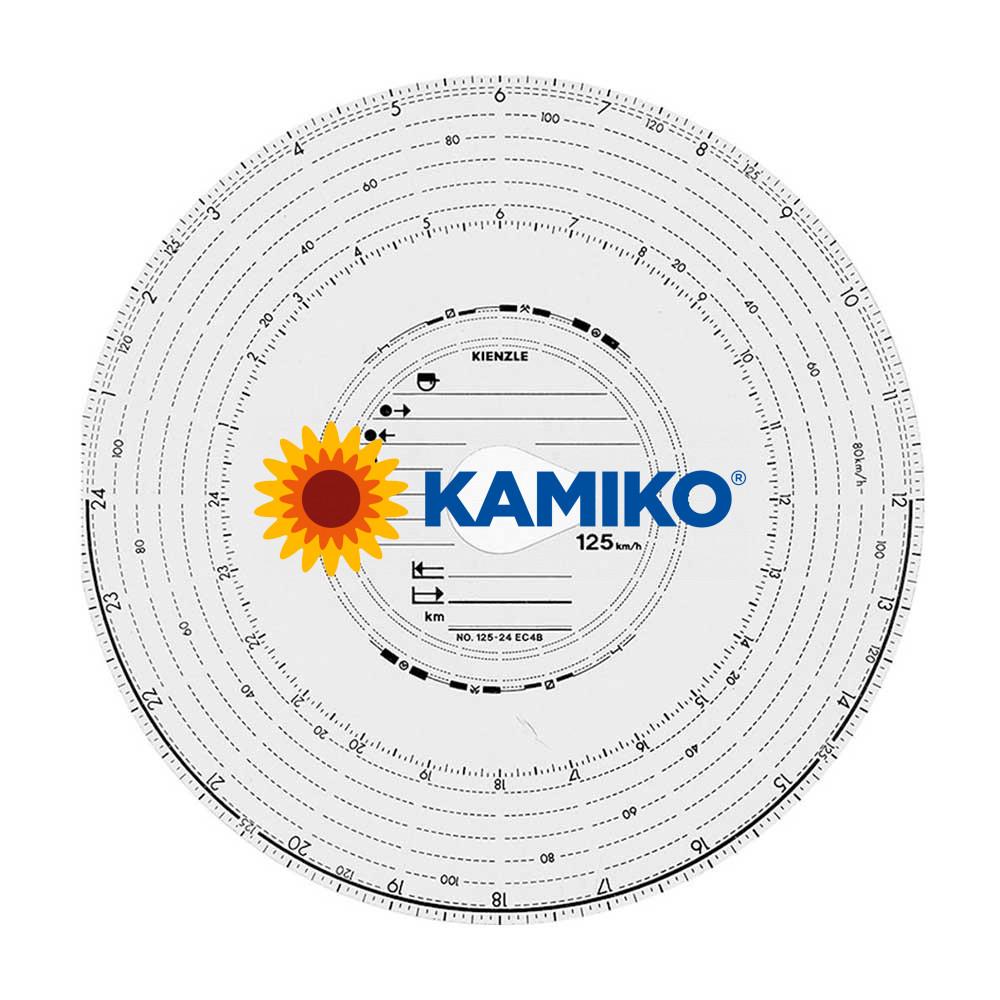Tachografické kotúče Kienzle 125-24 4B, 100 ks