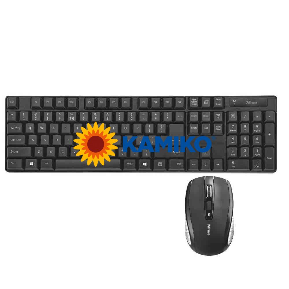 Bezdrôtová klávesnica Trust Ximo s myšou
