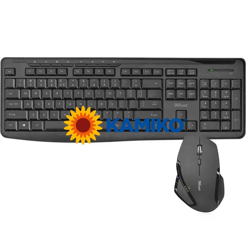 Bezdrôtová klávesnica Trust Evo s myšou